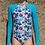 Thumbnail: Blueys Girls UPF50+ Long Sleeve Swimsuit in Tropical
