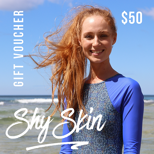 Gift Voucher for Shy Skin Australian made long sleeve swimwear and beach coverups