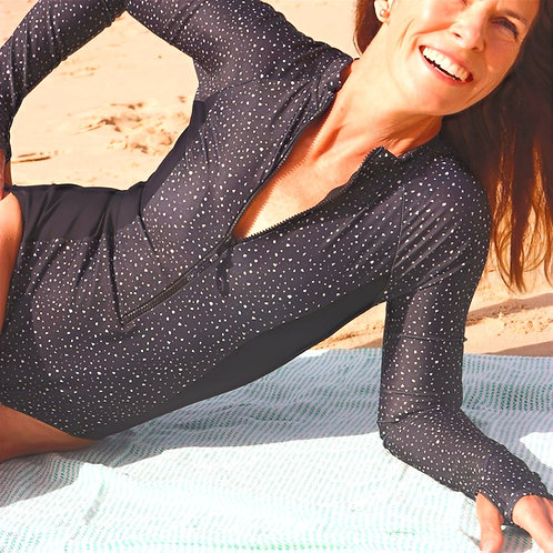 Southerly Long Sleeve Swimsuit in Stellar