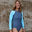 Shy Skin Dixon UPF 50+ Long Sleeve Swimsuit in Crystal Universe