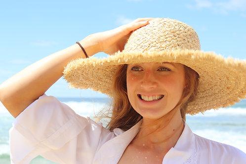 Shy Skin Beachwear Raffia Wide Brim Hat beach hat
