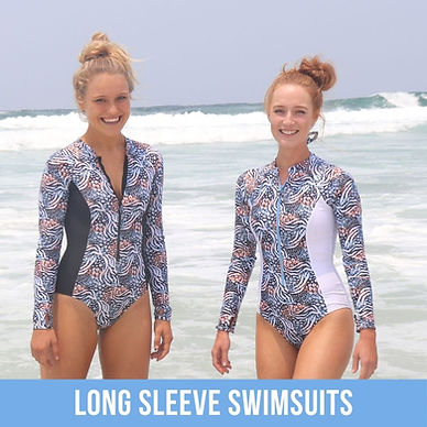 Shy Skin Long Sleeve Swimsuits