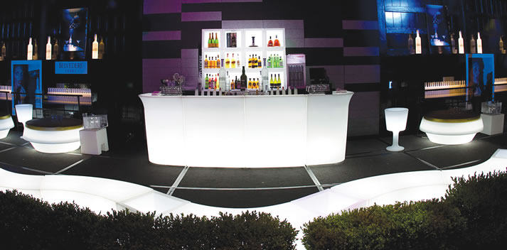 LED Lounge Club Furniture