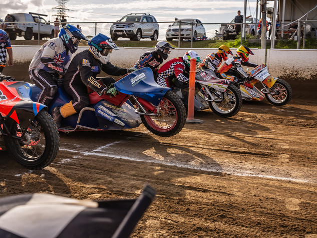 SIDECARS NORTH BRISBANE JUNIOR MOTORCYCLE CLUB SPEEDWAY CLUB DAY 5