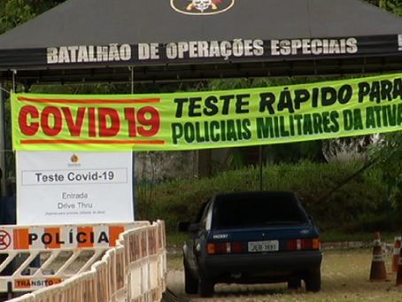 PM inicia testagem por drive thru para militares com sintomas da covid-19