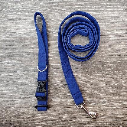 Royal Azure Blue Collar & Leash Set