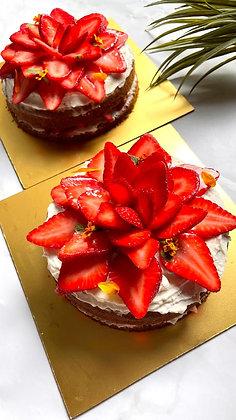 Vanilla Strawberry Cake