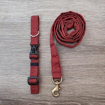 Brick Orange Collar & Leash Set