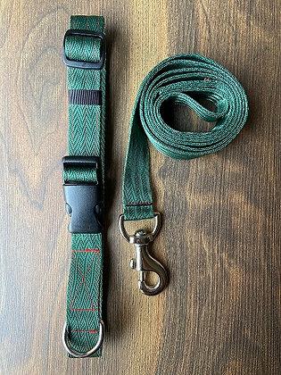 Myrtle Green Nylon Collar & Leash