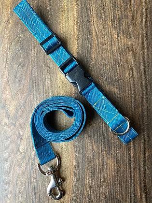 Teal Nylon Collar & Leash Set