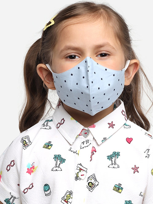 Kids Blue Star 2-Ply Reusable Cloth Mask