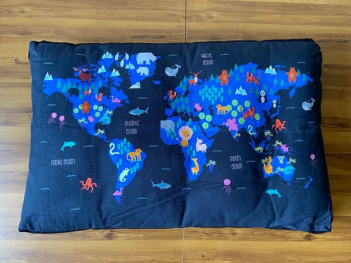 Furry Travel Map Bed