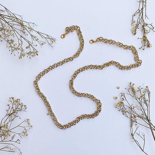Gold Glitter Mask Chain