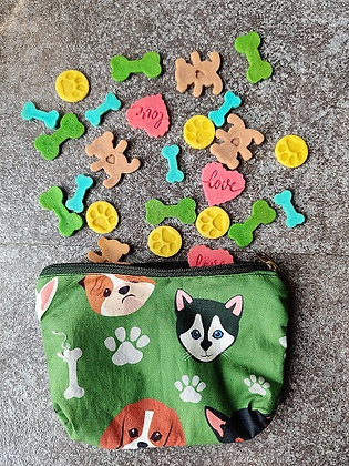 Happy Faces Green Pouch
