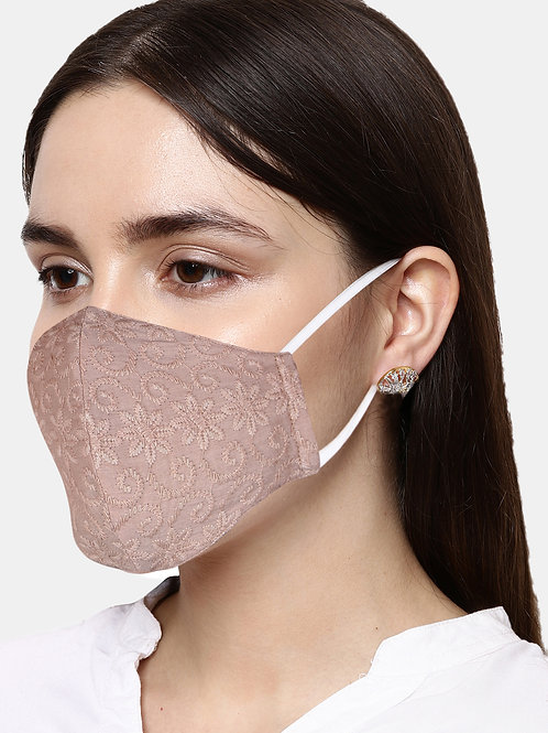 Adults 3 Pcs 2 Ply Assorted Embroidered Reusable Masks