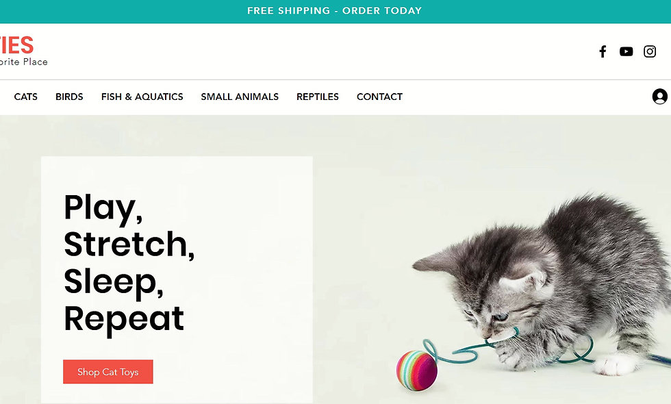 Pet Supplies Online Store