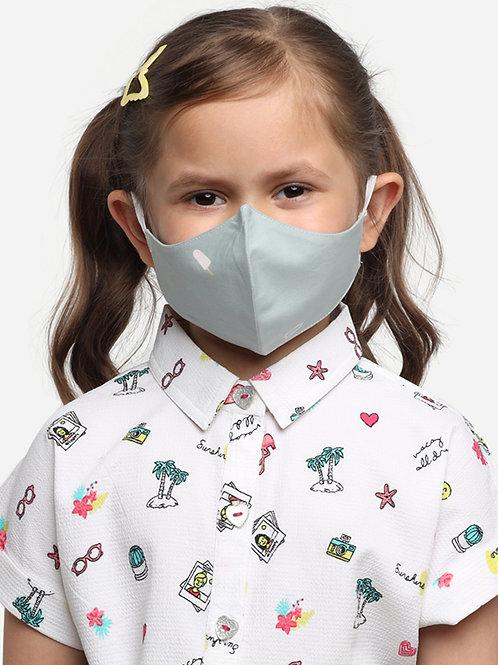 Kids Green Ice-cream 2-Ply Reusable Cloth Mask