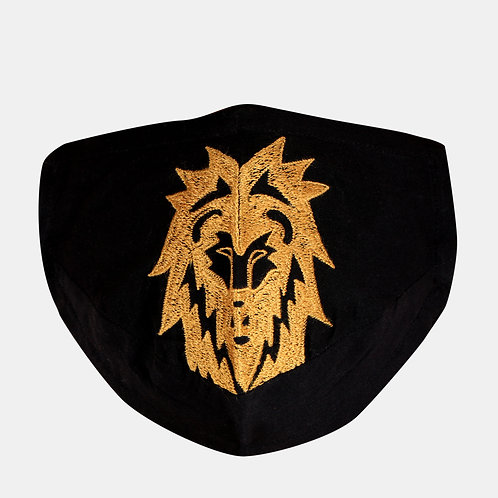 Black Lion Printed Single 2-Ply Reusable Outdoor Mask