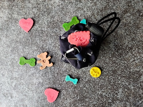 Black Portable Treat Bag