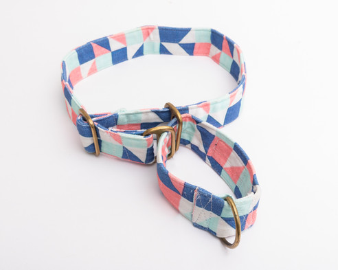 Pep & Pop Denim Martingale Collar