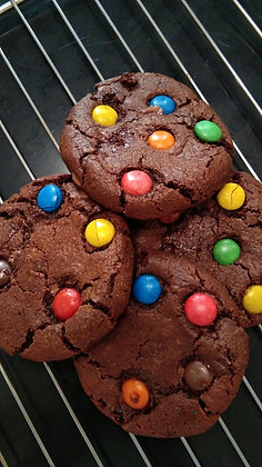 M&M Chocolate Cookies - Box of 4