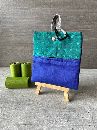 Blue and Green - Poop Bag Dispenser