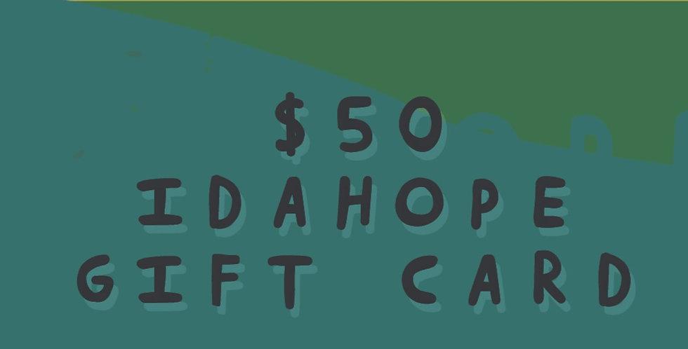 $50 Idahope Gift Card