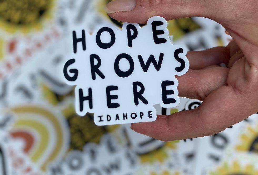 Hope Grows Sticker