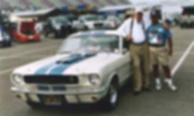 Tony's '65 Shelby with Carroll Shelby at