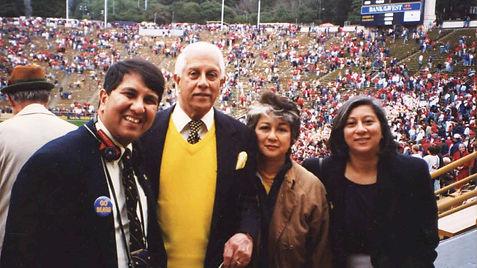 Tony, Dad, Maria, Angela at big  game AC