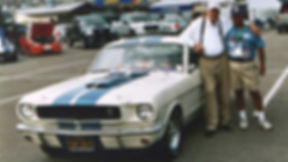 Tony's '65 Shelby with Carroll Shelby at
