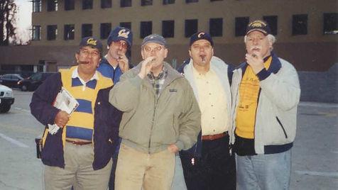 Tony and friends at big game - Cal  v. S