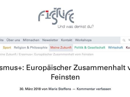 Erasmus+: Europäischer Zusammenhalt vom Feinsten