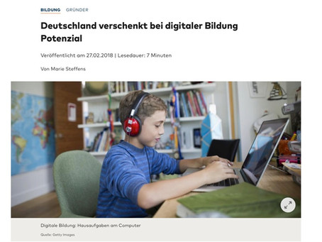 Deutschland verschenkt bei digitaler Bildung Potenzial