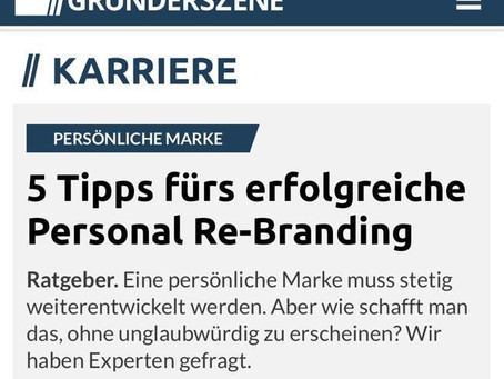 5 Tipps fürs erfolgreiche Personal Re-Branding