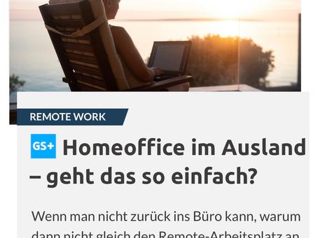 Homeoffice im Ausland – geht das so einfach?