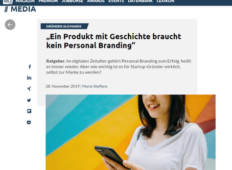 """""""Ein Produkt mit Geschichte braucht kein Personal Branding"""""""