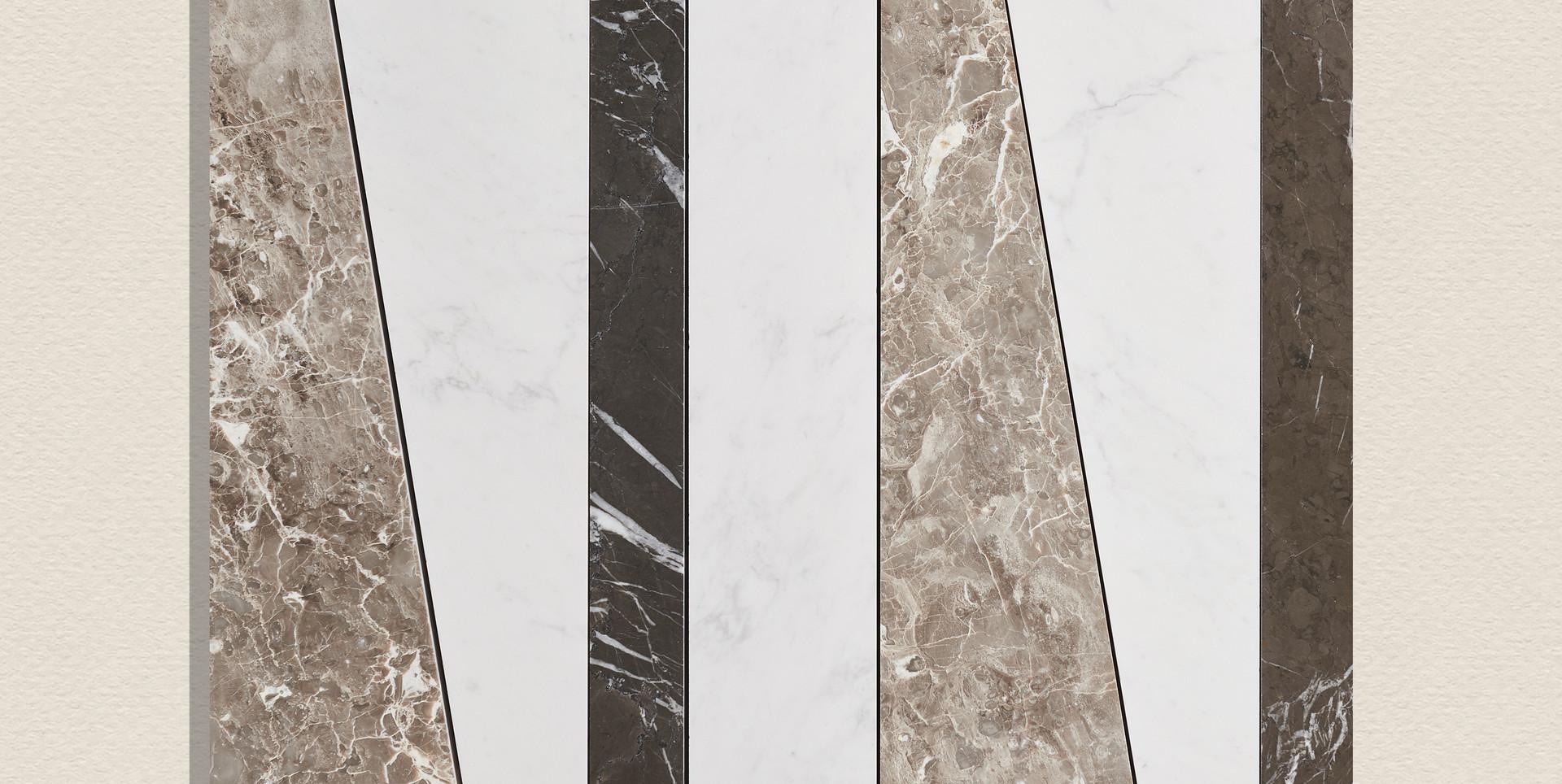 Grigio Cosmico + Brilliant white + Peary Grey