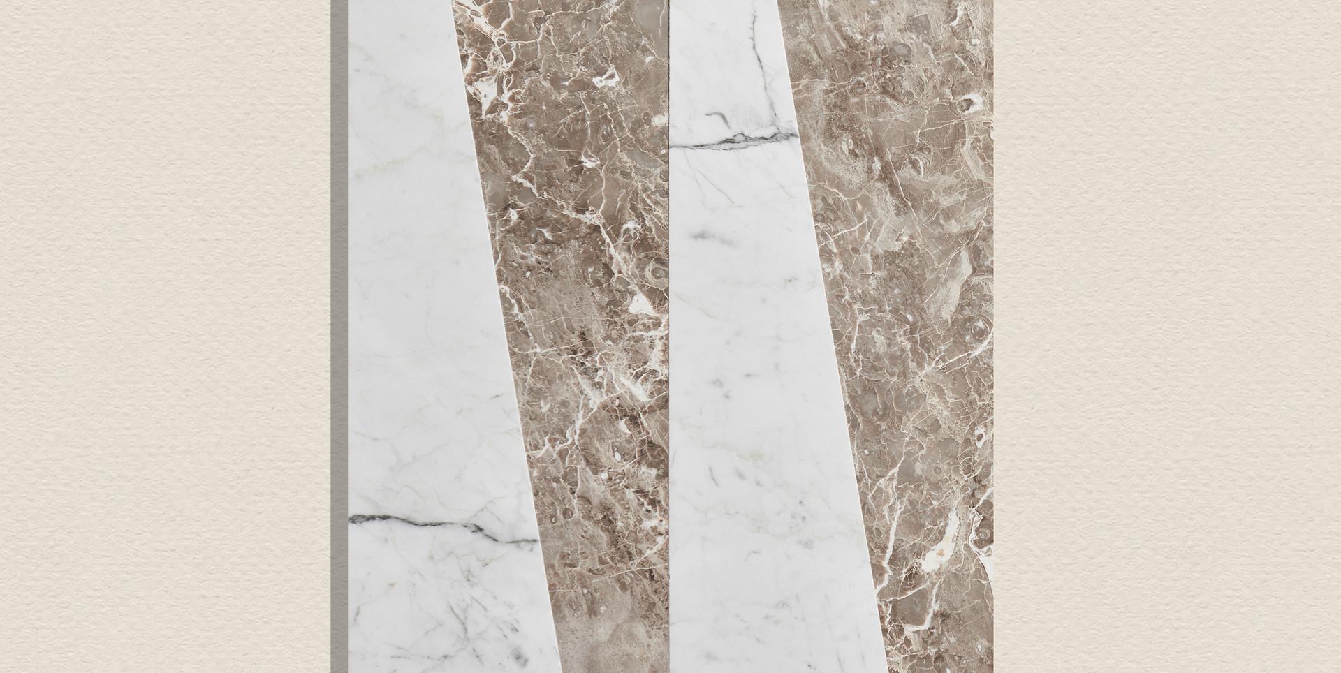 Grigio Cosmico + Brilliant white