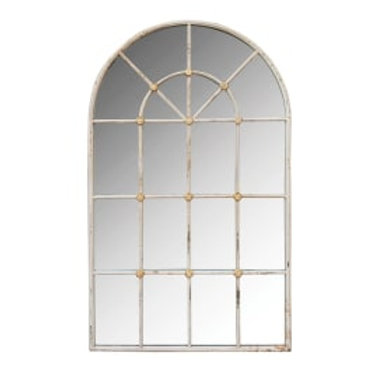Outdoor arch wall mirror