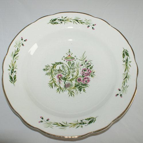 Set 6 French porcelain soup plates
