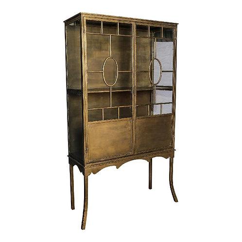 Vintage Bronze glazed display cabinet