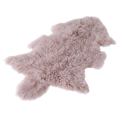 Mauve Tibetan lambskin rug