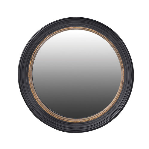 Black & gold frame convex mirror