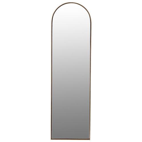 Arch top framed mirror