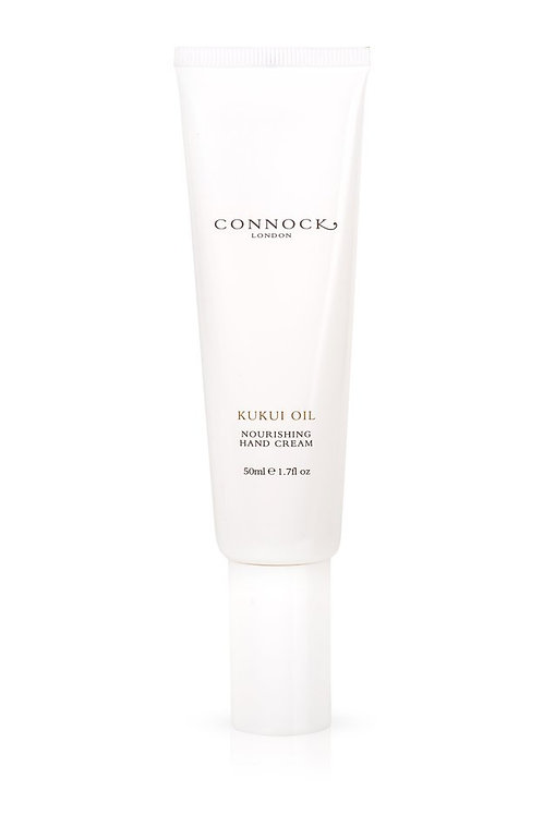 Connock London Kukui oil nourishing hand cream bottle