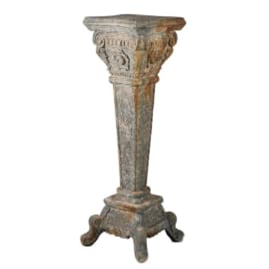 Distressed tapered pedestal