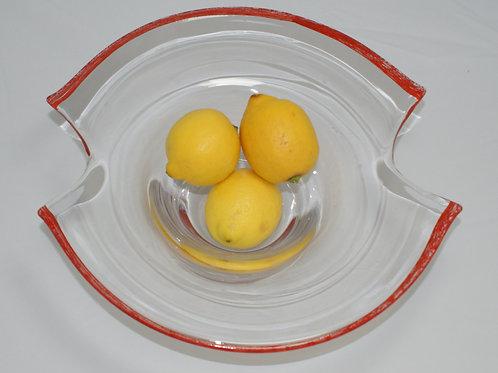 Vintage glass fruit bowl