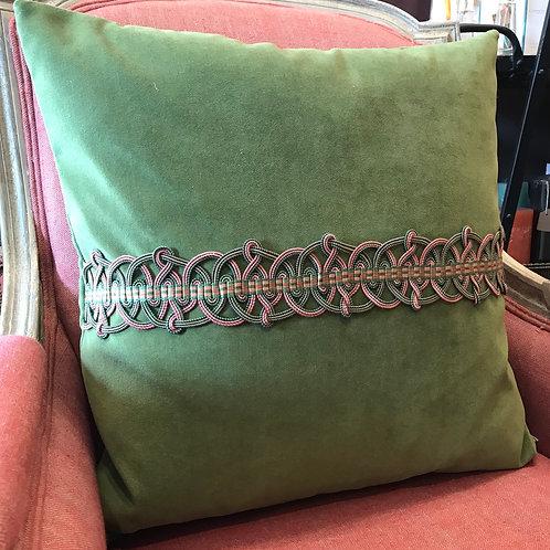 Cushion with braid