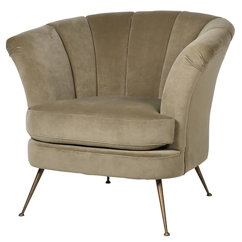 Biscuit-beige tulip club chair